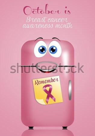 óvszer vörös szalag pár gyógyszer biztonság boldogság Stock fotó © sognolucido