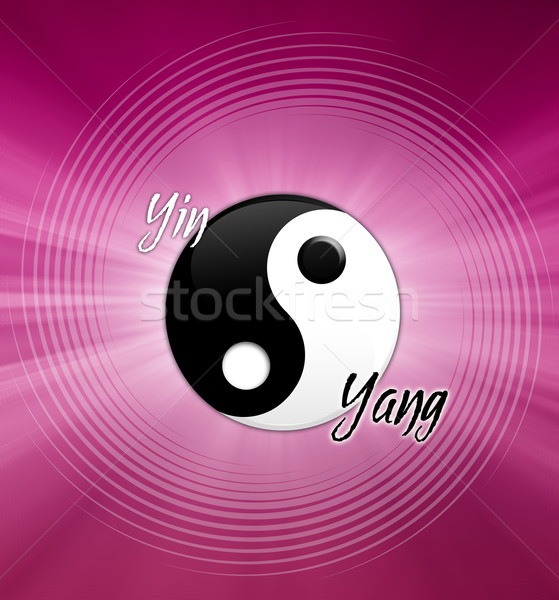 Yin and Yang symbol Stock photo © sognolucido