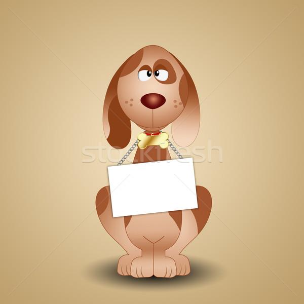 面白い 犬 にログイン 実例 子犬 ストックフォト © sognolucido
