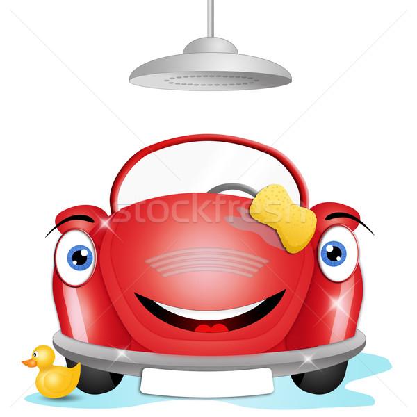 面白い 洗車 実例 車 洗濯 水 ストックフォト © sognolucido