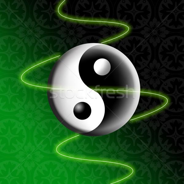 Stock photo: Yin and Yang symbol