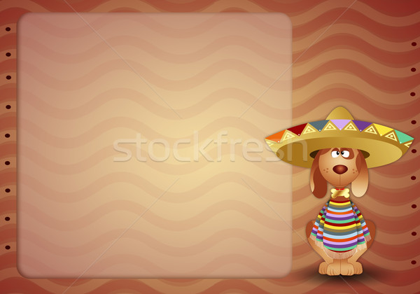 Dog with poncho Stock photo © sognolucido