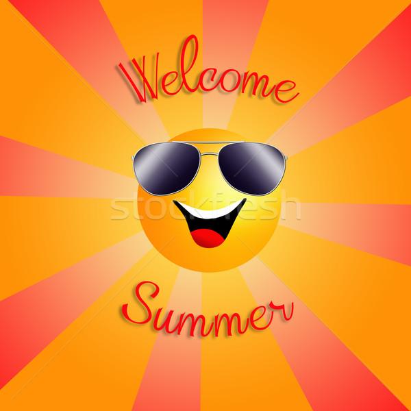 Benvenuto estate illustrazione divertente sole ora legale Foto d'archivio © sognolucido