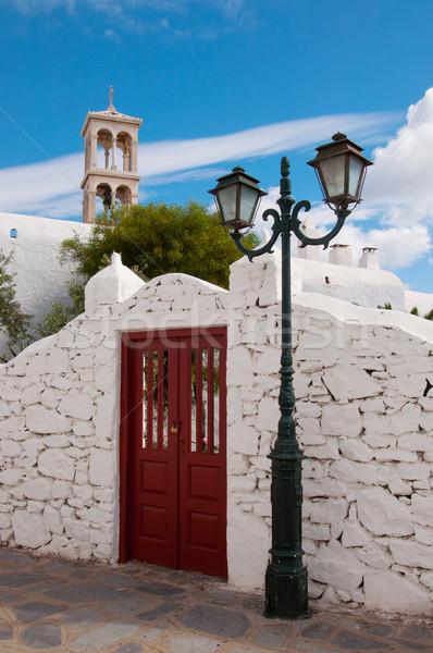 Mosteiro paisagem ilha férias turismo Grécia Foto stock © sognolucido