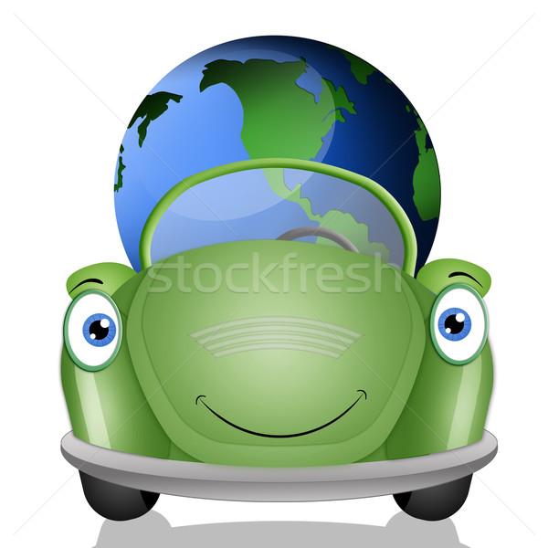 Ecologico auto terra verde natura industria Foto d'archivio © sognolucido