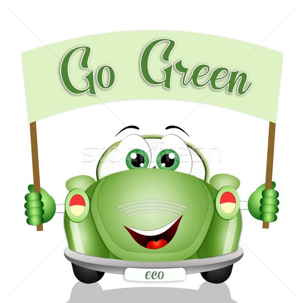 Ecológico coche respeto planeta naturaleza tecnología Foto stock © sognolucido