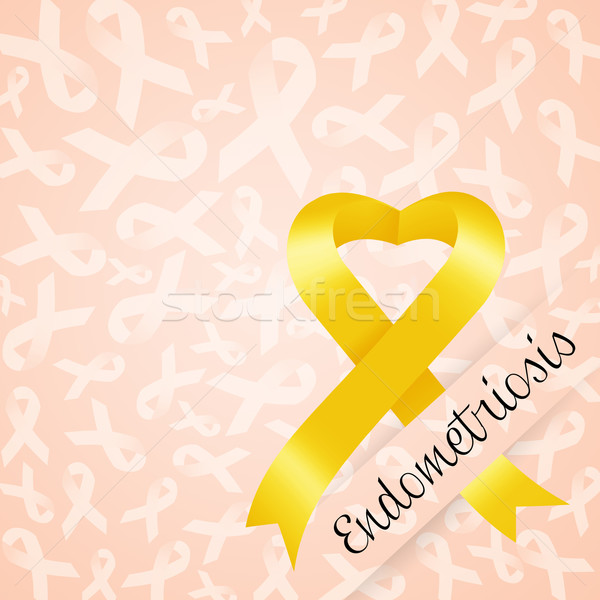Endometriosis with yellow ribbon Stock photo © sognolucido
