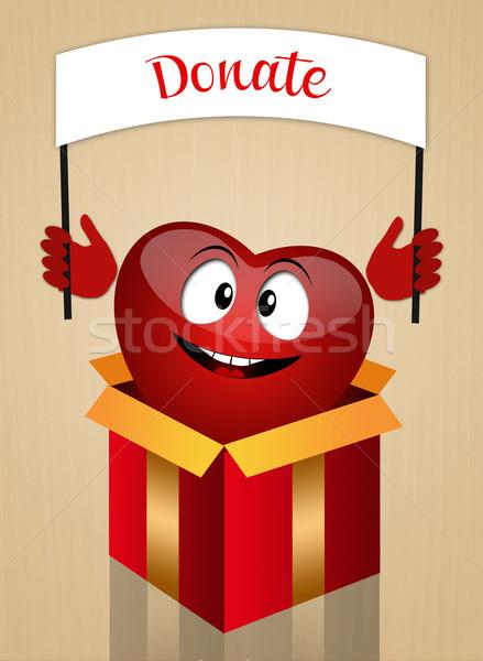 Organ bağış örnek komik kalp tıbbi Stok fotoğraf © sognolucido