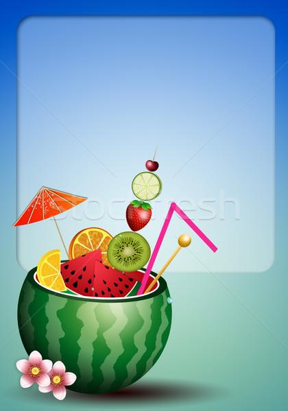 watermelon cocktail Stock photo © sognolucido