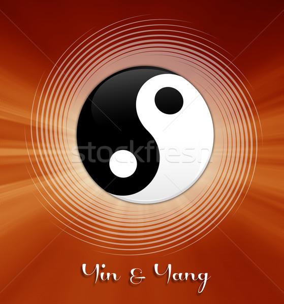 Yin and Yang symbol Stock photo © sognolucido