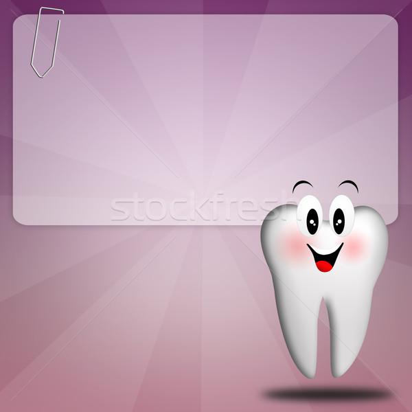 Diş bakımı örnek diş tıbbi tıp araçları Stok fotoğraf © sognolucido