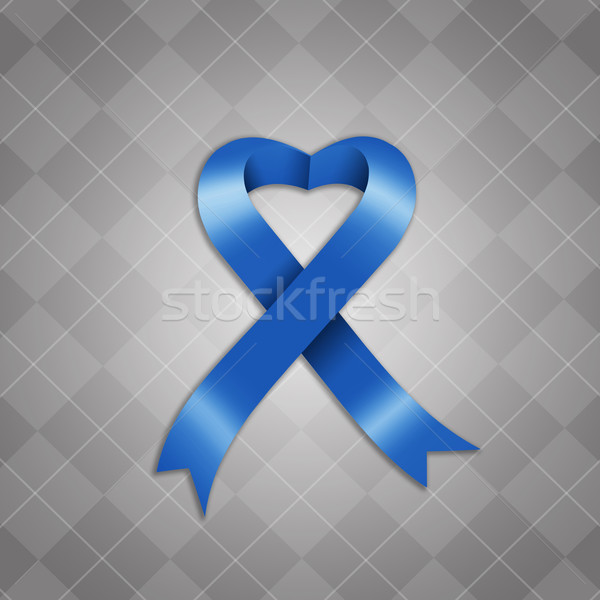 осведомленность синий лента иллюстрация медицинской борьбе Сток-фото © sognolucido