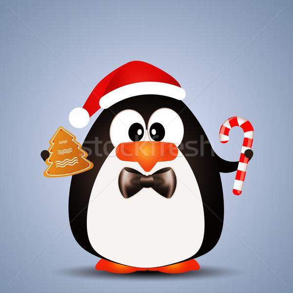 ペンギン キャンディ 実例 クリスマス 雪 ストックフォト © sognolucido