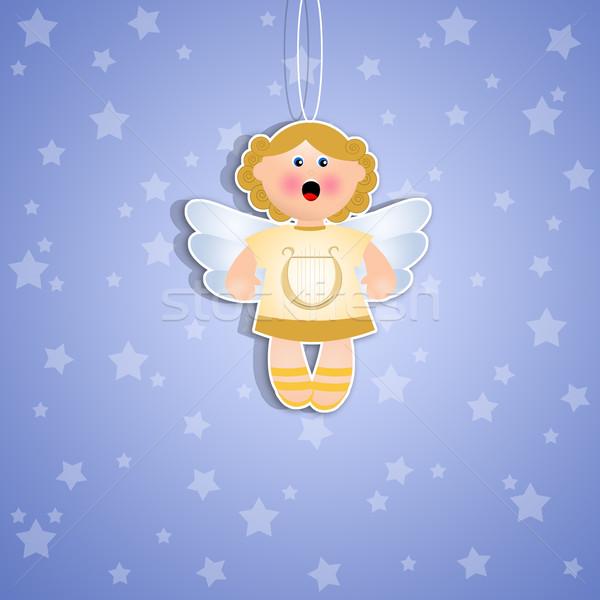 天使 装飾 クリスマス 背景 天国 漫画 ストックフォト © sognolucido
