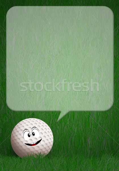 Komik golf topu yeşil örnek spor eğlence Stok fotoğraf © sognolucido