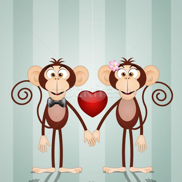 Анимация днем, открытки обезьянки любовь