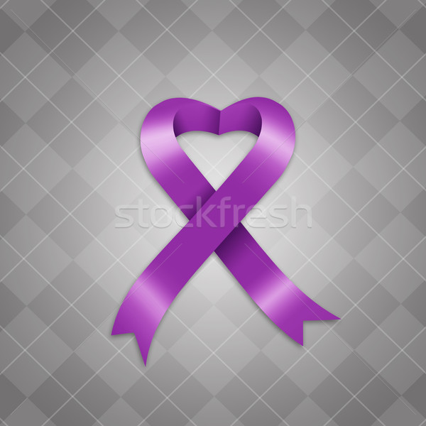 Awareness violet ribbon Stock photo © sognolucido