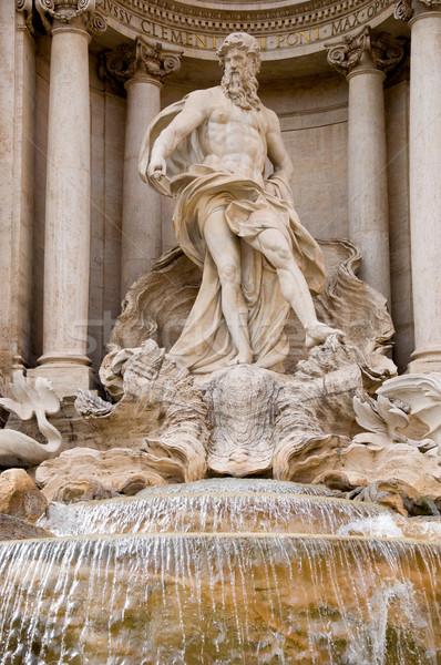Heykel trevi Çeşmesi Roma Bina şehir sanat Stok fotoğraf © sognolucido