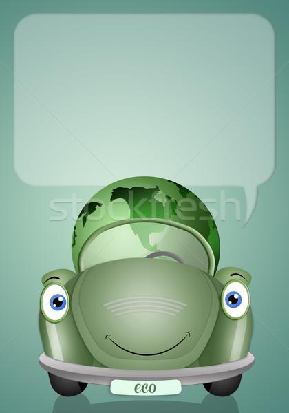 Ecologisch auto groene aarde aanzien planeet Stockfoto © sognolucido