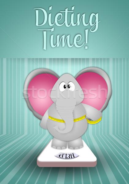 ストックフォト: ダイエット · 時間 · 象 · ボディ · 健康