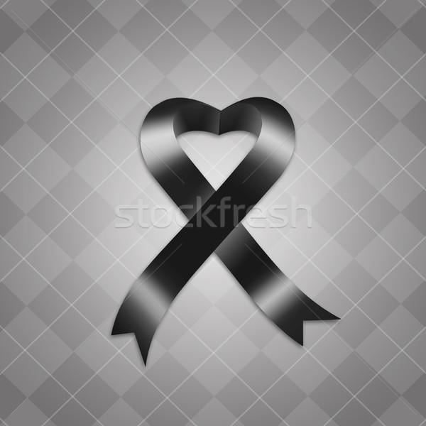 Farkında olma siyah şerit örnek Stok fotoğraf © sognolucido