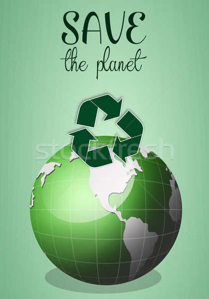 Save the planet Stock photo © sognolucido