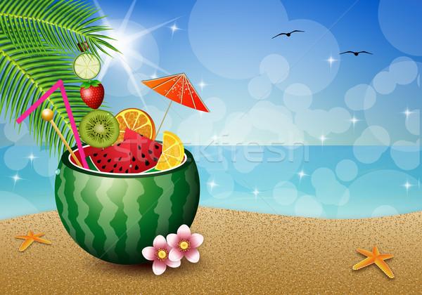 watermelon on the beach Stock photo © sognolucido
