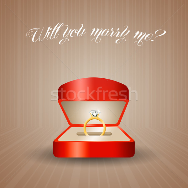 Propose of marriage Stock photo © sognolucido