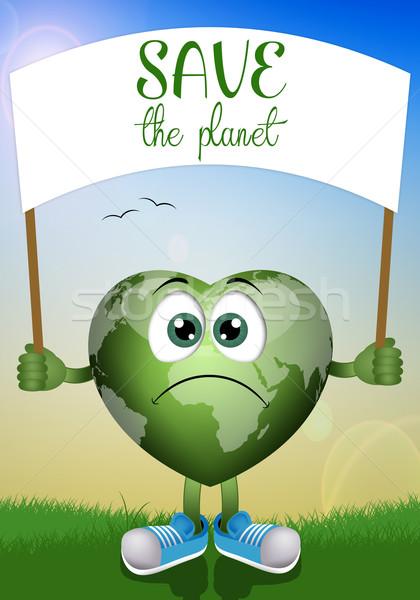 保存 惑星 実例 世界中 中心 ストックフォト © sognolucido