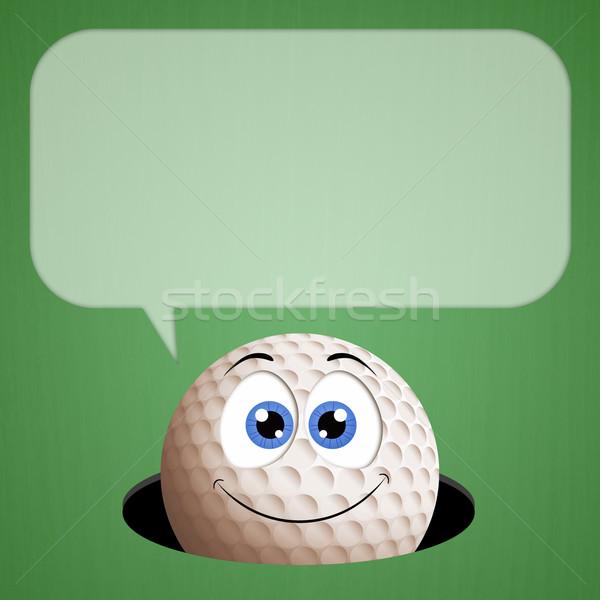 面白い ボール 緑 穴 実例 ゴルフボール ストックフォト © sognolucido