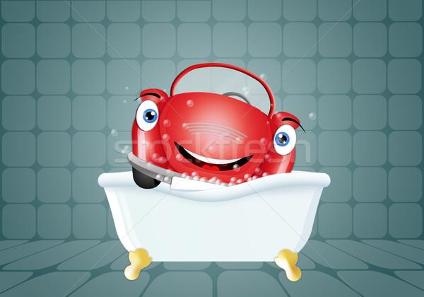 Engraçado carro banho lava-jato ilustração lavagem Foto stock © sognolucido