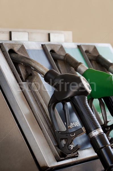 бензин насос автомобилей стороны промышленности нефть Сток-фото © sognolucido