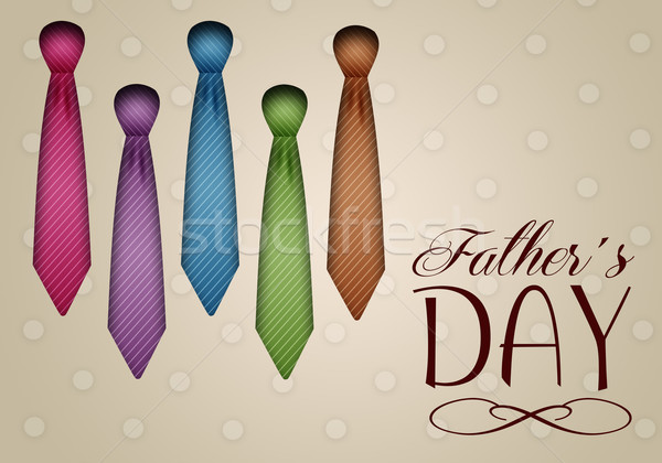 Ties for Happy Father's Day Stock photo © sognolucido