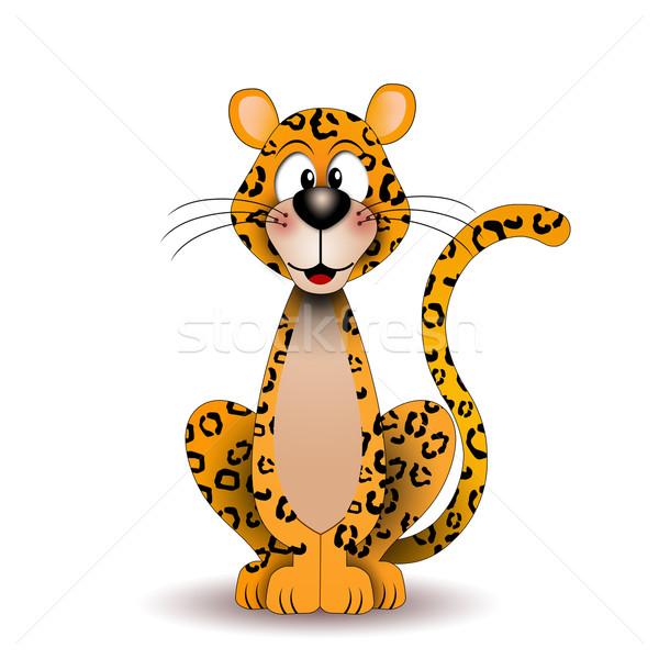 面白い ヒョウ 実例 動物 アフリカ サファリ ストックフォト © sognolucido