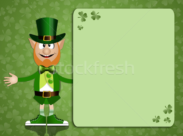 Background for St. Patrick's Day with Irish man Stock photo © sognolucido