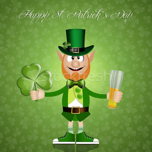 Szczęśliwy Dzień Świętego Patryka wiosną zielone koniczyna sukces Zdjęcia stock © sognolucido