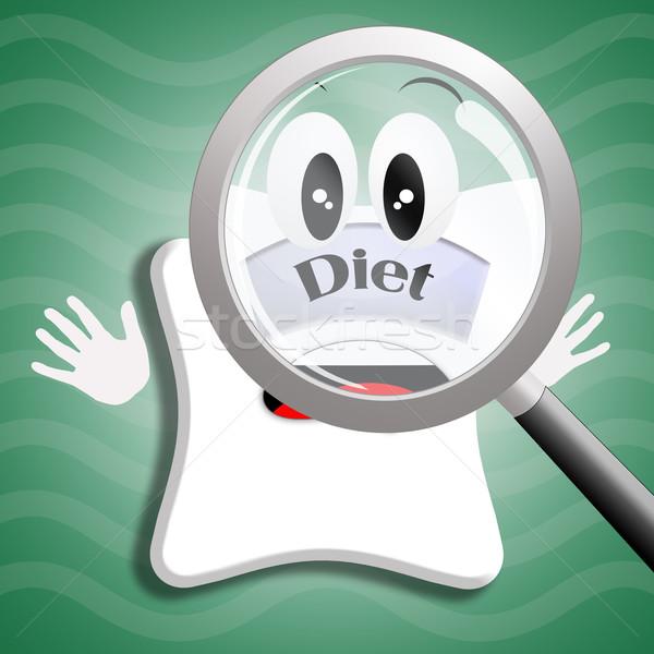 Diety ilustracja skali diety medycznych zdrowia Zdjęcia stock © sognolucido