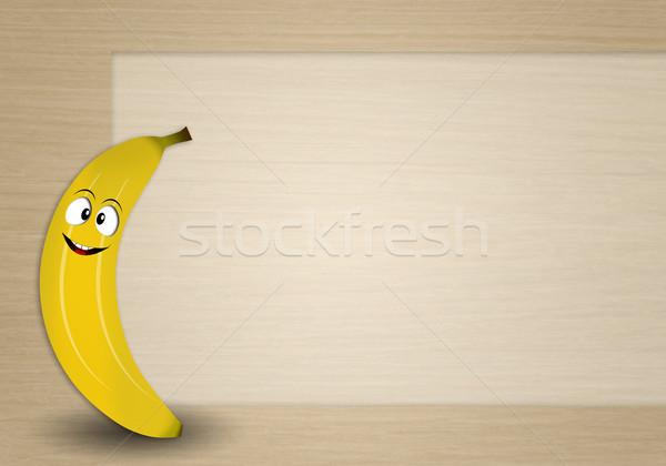 Funny banana Stock photo © sognolucido