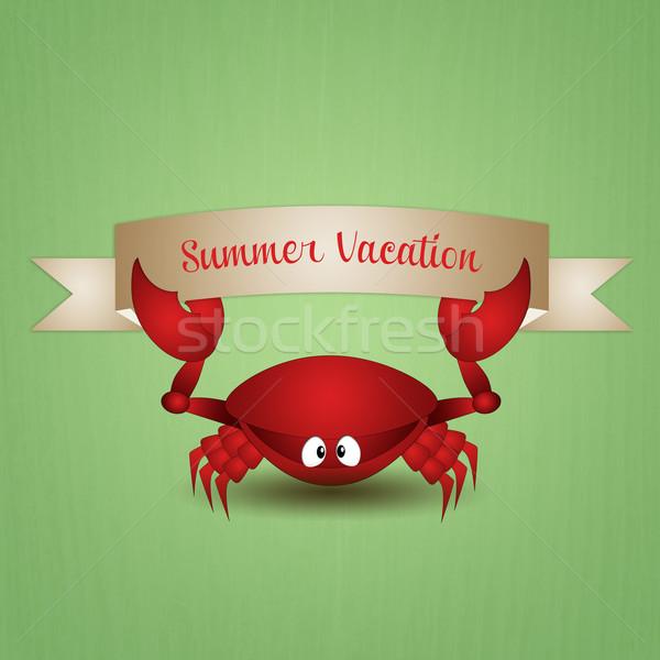 カニ 夏休み 実例 面白い 海 海 ストックフォト © sognolucido