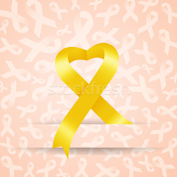 Yellow ribbon  Stock photo © sognolucido