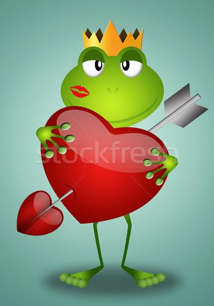 面白い カエル バレンタインデー パーティ 愛 抽象的な ストックフォト © sognolucido
