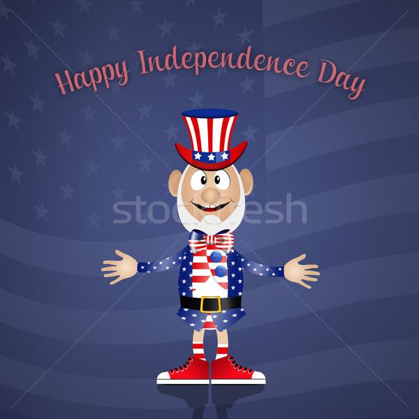 ストックフォト: 幸せ · 日 · 実例 · 男 · アメリカン · 服
