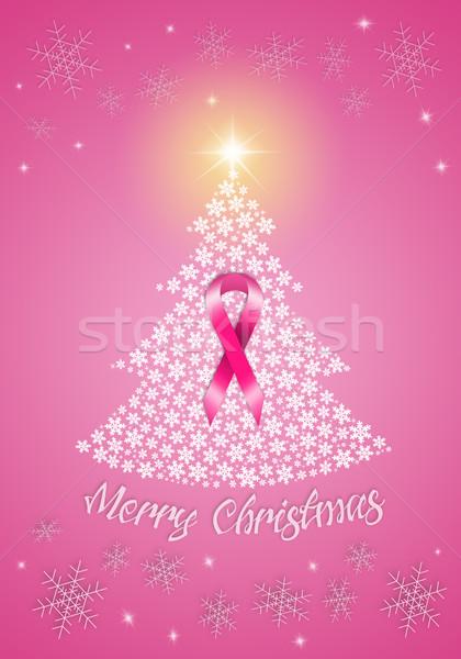 рождественская елка Рак молочной железы предотвращение иллюстрация женщину Сток-фото © sognolucido