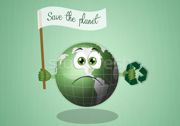 Green earth for save the planet Stock photo © sognolucido