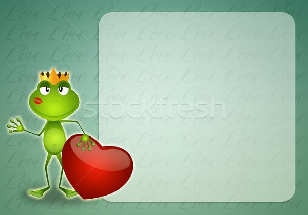 Funny frog in Valentine's Day Stock photo © sognolucido