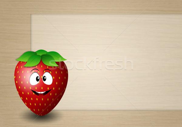 Funny strawberry Stock photo © sognolucido
