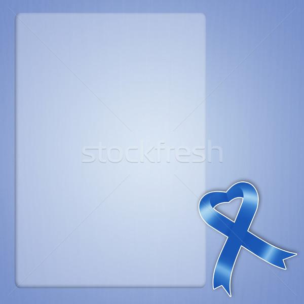 синий лента иллюстрация дизайна борьбе опасность Сток-фото © sognolucido