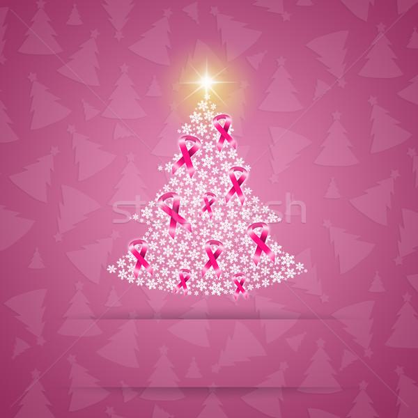 рождественская елка розовый иллюстрация женщину девушки Сток-фото © sognolucido
