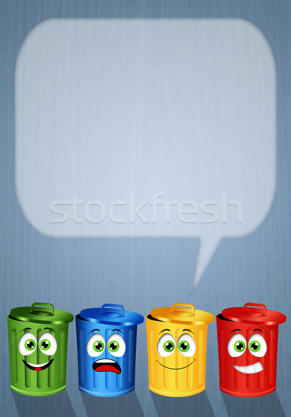 Garbage bins for recycle Stock photo © sognolucido