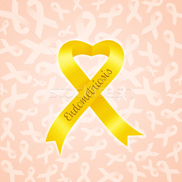 Yellow ribbon for Endometriosis Stock photo © sognolucido